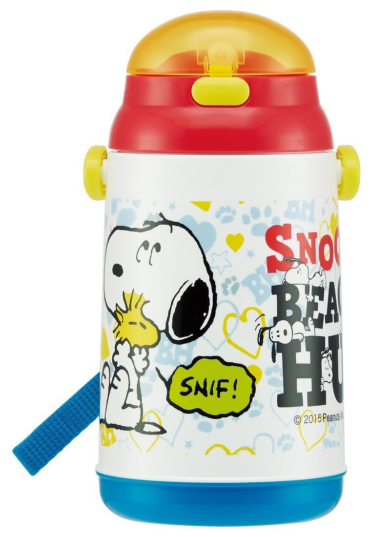 Skater Peanuts Snoopy's Beagle Hug Water Bottle with Built-In Straw by Skater