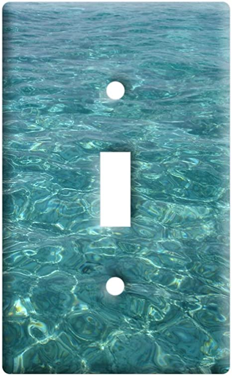 Water Ocean Waves Plastic Wall Decor Toggle Light Switch Plate Cover Amazon Com
