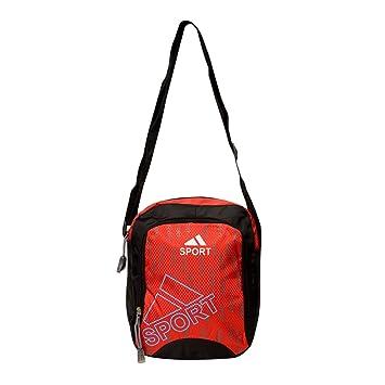 3ffef0ac3bfb Buy Roshiaaz Women s Casual Sling Bag Canvas Material (Black   Red ...