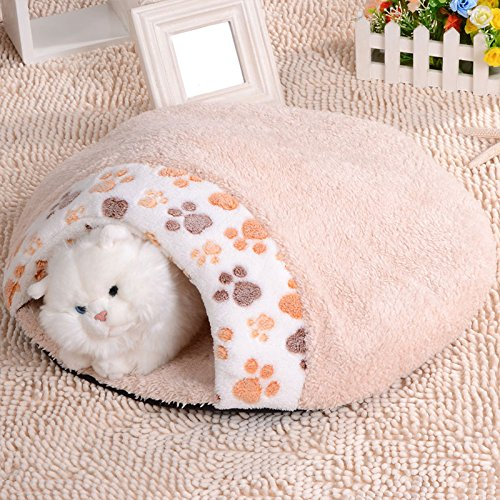Kicode Pet Cat Dog Puppy Sleeping Bag Warm Snuggle Sack Bed House Kennel Cave Pouch Mat