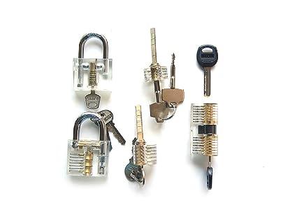Mejor Lockman 5 pc/set Crystal todos los tipos de cerraduras profesional visible Cutaway de