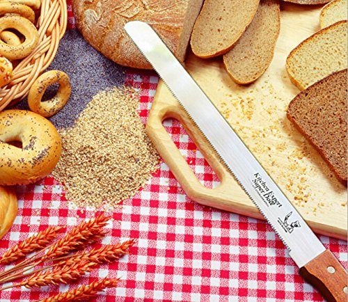 17 Inch (12inch Blade)Cake Cheese and Bread knife Slicer Stainless Steel Serrated by PETS ISLAND