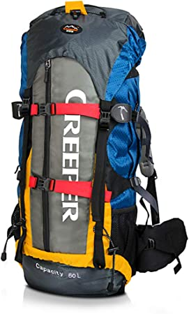 CREEPER Hiking Backpack 60L Trekking Rucksacks Waterproof Hiking  Mountaineering Camping Internal Frame Pack with Rain Cover for Men Women:  Amazon.co.uk: Sports & Outdoors