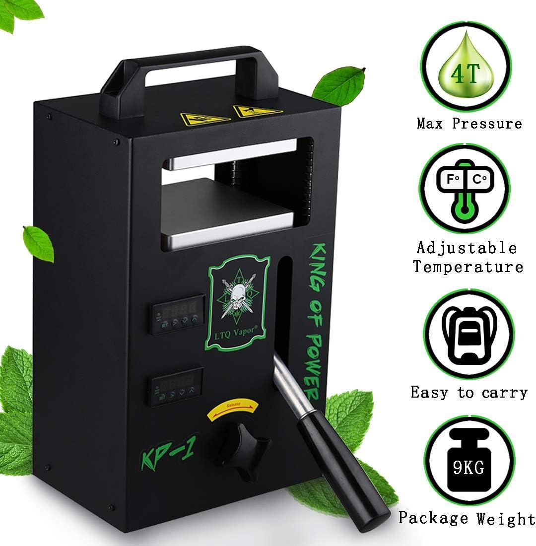 Máquina de prensa de calor portátil con placas de aluminio duales, calibre de temperatura de precisión, apta para el hogar personal o de viaje