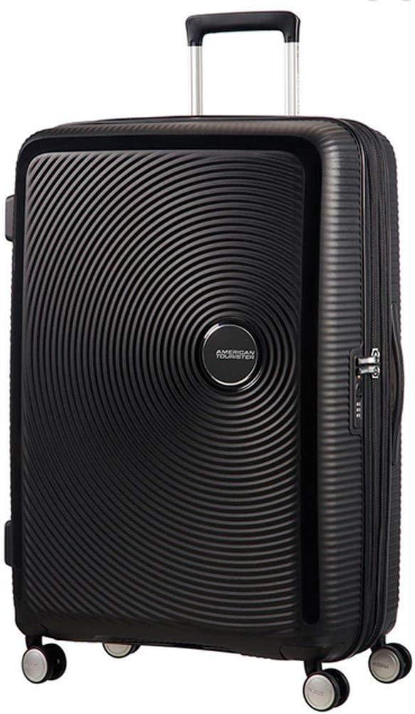 American Tourister Soundbox Spinner Equipaje de mano M (67 cm 81 L), Negro (Bass Black)