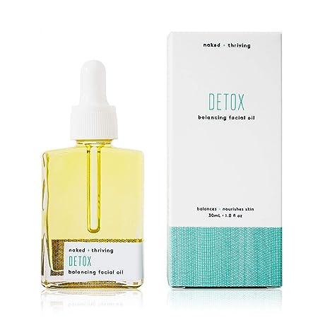 Naked Thriving Detox Balancing Facial Oil – Organic, Vegan, All-Natural Skin Care Face Oil 1.0 oz 30 mL