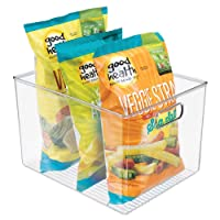 mDesign Plastic Storage Organizer Container Bins Holders with Handles - for Kitchen...