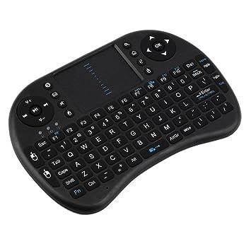 LJX Mini teclado inalámbrico 2.4 G y almohadilla táctil, funcionamiento confortable, adaptado para los