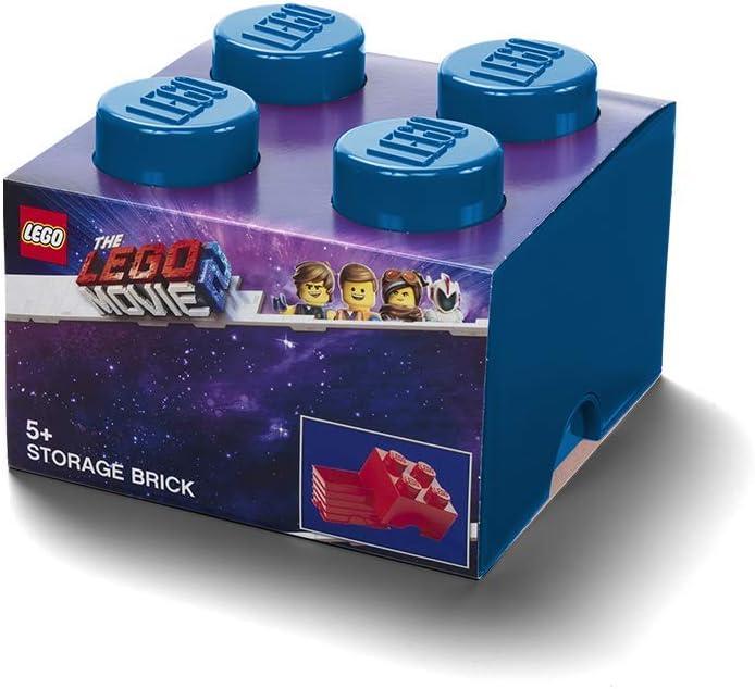 LEGO Brick 4 Storage Box, One Size, Movie 2, Blue