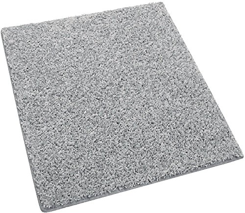 Square 8'X8′ Pewter Area Rug Carpet. 25 oz. Face Weight. 1/2″ Thick. Polyester. Loose and Soft Frieze. For Sale