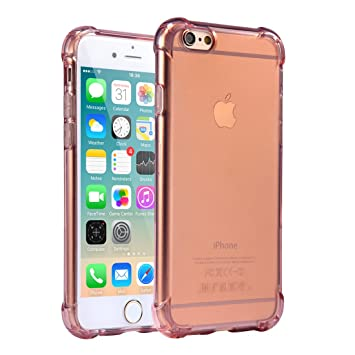 Funda iPhone 6 / 6S, Carcasa Protectora de Silicona Transparente, con TPU Antigolpes, para iPhone 6 / 6S de 4.7