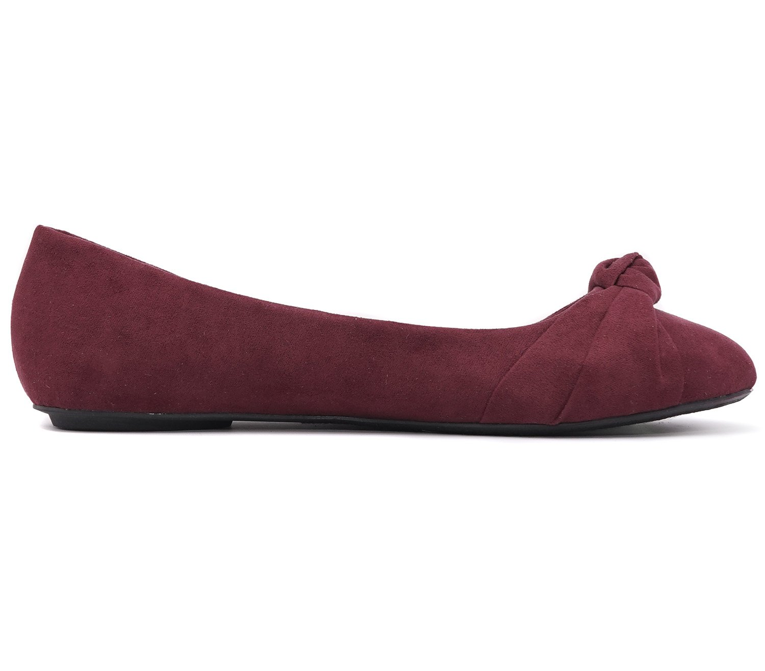 9b2f343f5379 Charles Albert Womens Knotted Front Canvas Round Toe Ballet Flats