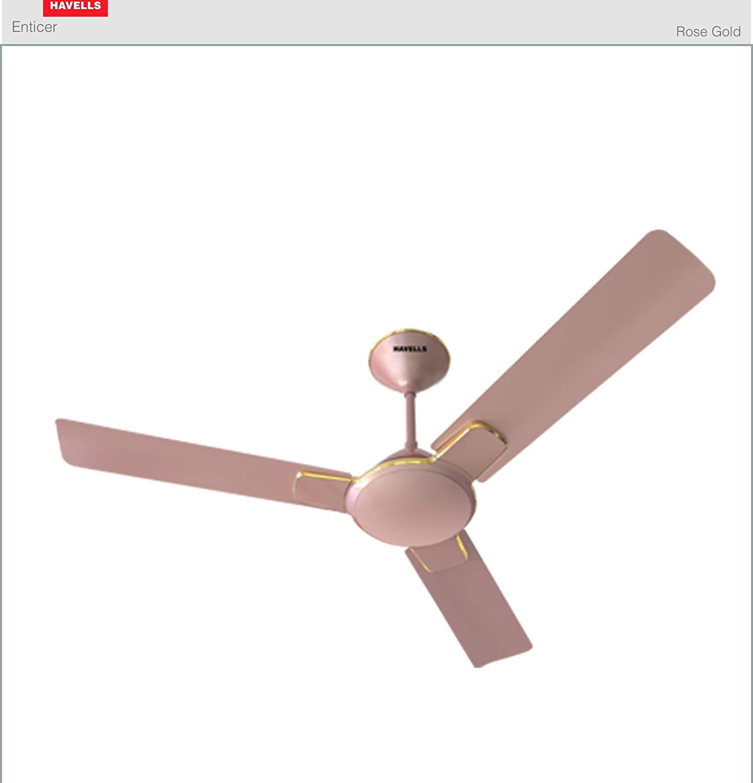 Buy Havells Enticer 1200mm Ceiling Fan Rose Gold line at Low