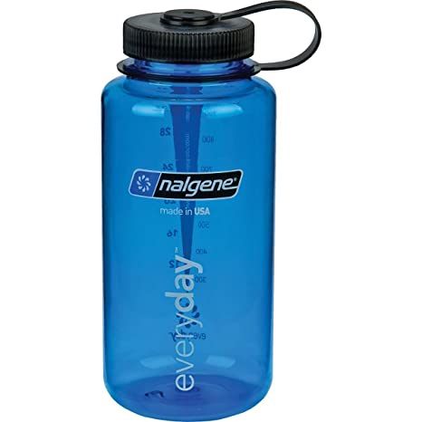83d43e63e Amazon.com : Nalgene Wide Mouth Water Bottle: 32oz Blue - 2 Count ...