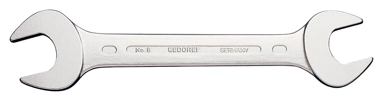 hochwertige Industriequalit/ät Ausf/ührung nach DIN 3110 Blendfrei-Optik durch mattes Verchromen K/öpfe feingeschliffen GEDORE 6 10x13 Doppelmaulschl/üssel 10x13 mm