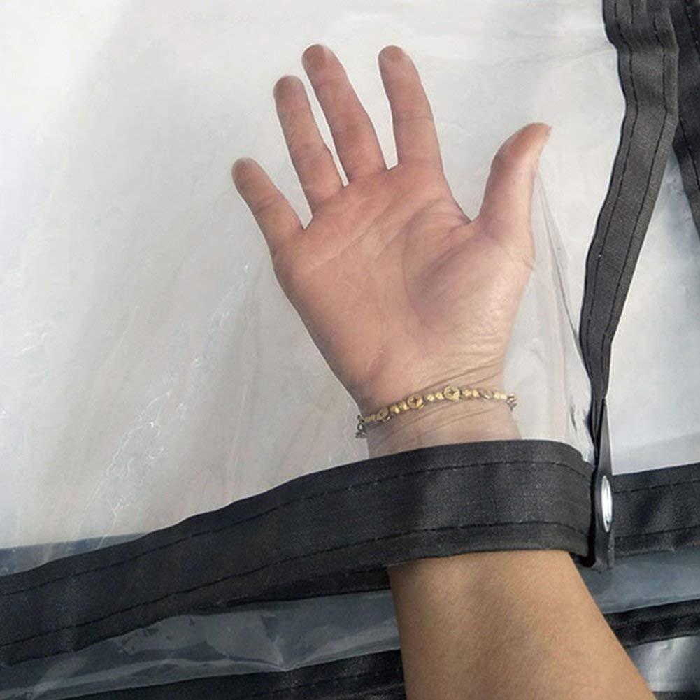 45m F-S-B BacheBÂche Transparente avec des Oeillets, des œillets et des Bords renforcés, épaisseur 0,12 mm,3  8m