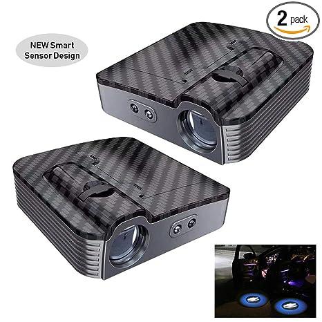 Amazon Com 2pcs Universal Wireless Smart Sensor Car Projection Led