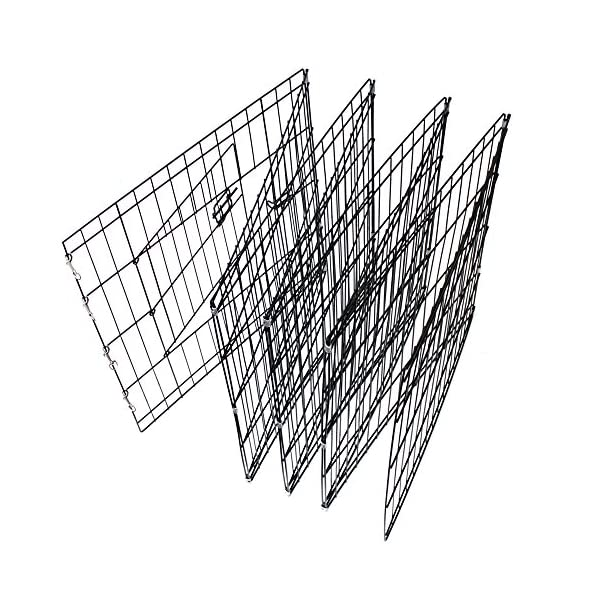 Paws & Pals Dog Exercise Pen Pet Playpens for Dogs - Puppy Playpen Outdoor Back or Front Yard Fence Cage Fencing Doggie Rabbit Cats Playpens Outside Fences with Door - Metal Wire 8-Panel Foldable 6