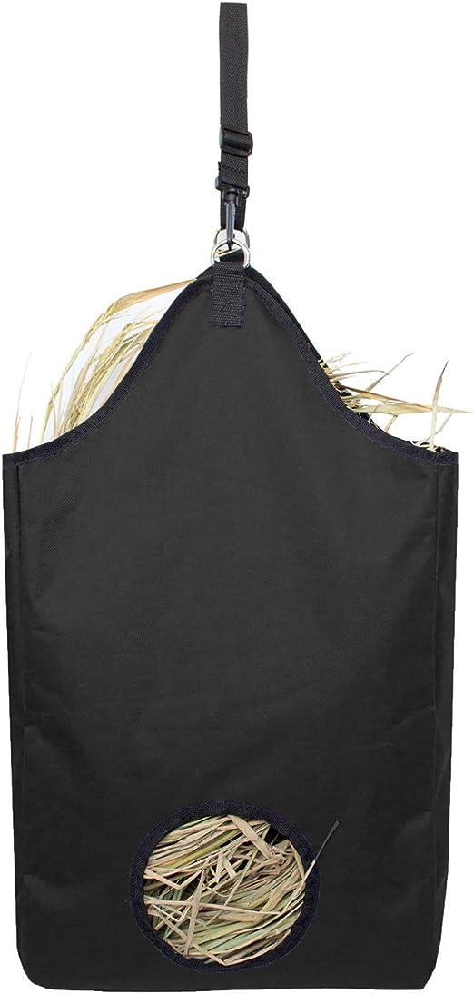 Sac de fourre-Tout en Nylon de fourre-Tout Sac dalimentation Lent de Cheval avec Les Courroies r/églables de Main Yunt Sac de Foin