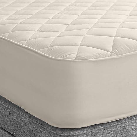 Woolroom Protector de colchón Doble de Lana Natural, orgánica, Lavable, Doble (135