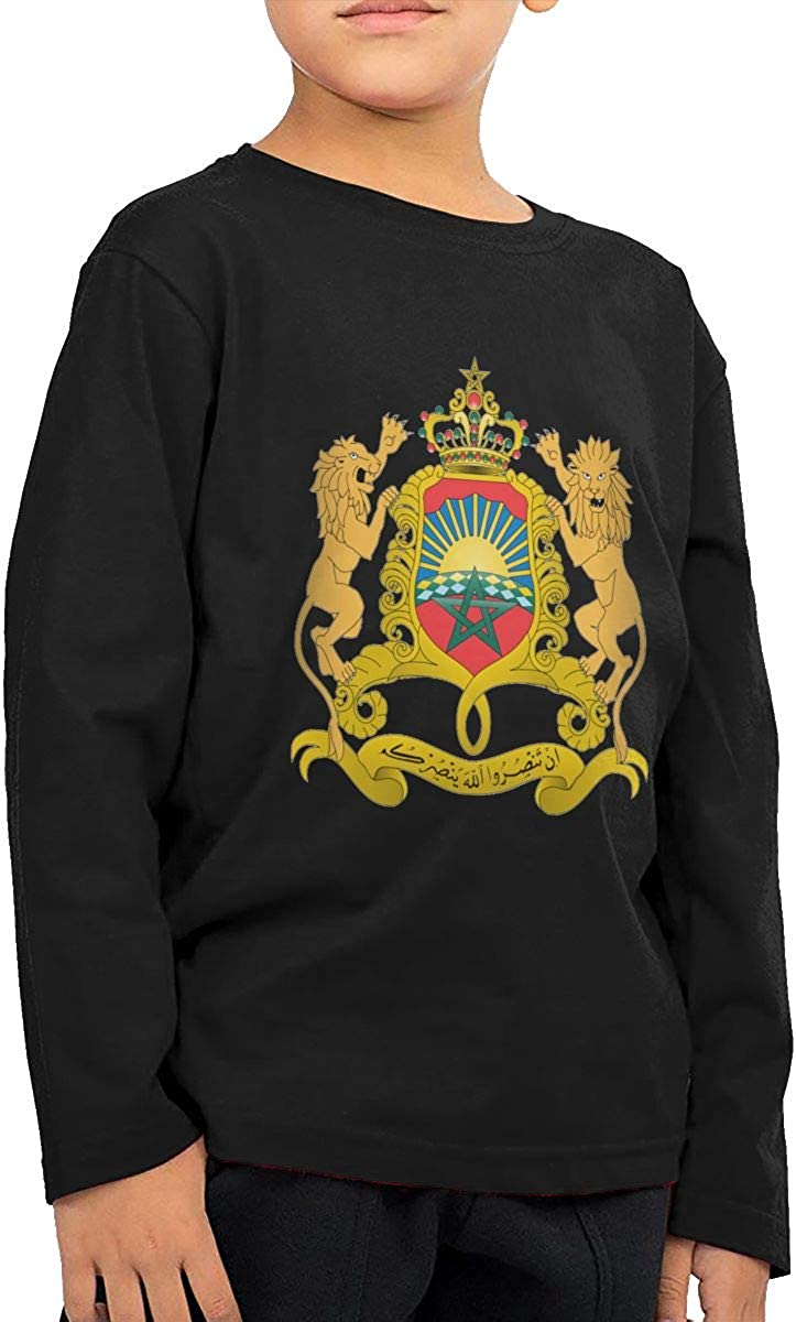 Kingdom of Morocco Childrens Long Sleeve T-Shirt Boys Cotton Tee Tops