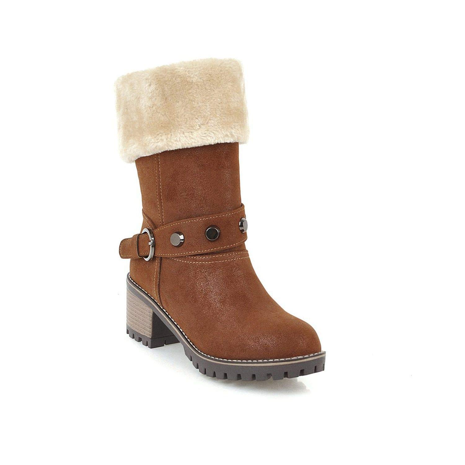 Amazon.com | Snow Shoes Women Bottes Sexy Zapatillas Mujer Bota Feminina Wedding Heels Leather Boots | Shoes