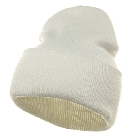 Long Beanie-White W16S24E at Amazon Men s Clothing store  Skull Caps 12cf9a2fe3d