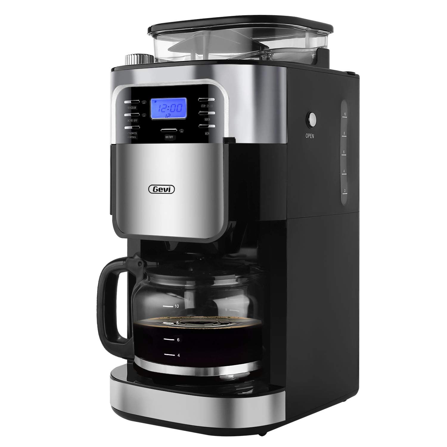 Gevi maker510 Coffee maker, 13.7 x 11.8 x 19.6 inches, Silver
