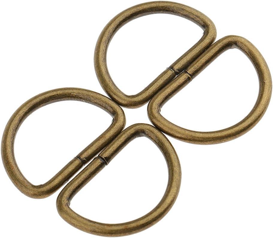 Sharplace 100 Piezas Anillo de Metal en Forma de N/íquel No Soldado Niquelado para Hebillas de Cintur/ón Bolsos Blanco 12x8x1.8mm