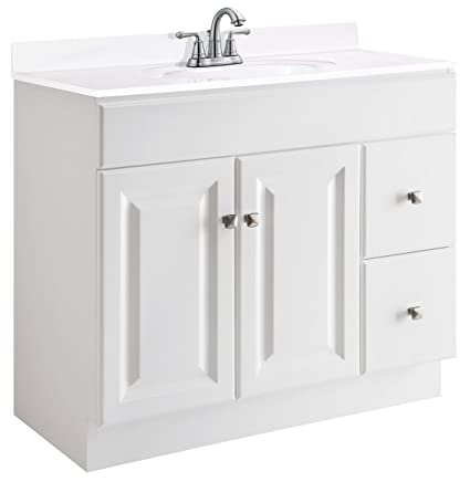Beau Design House 545095 Wyndham White Semi Gloss Vanity Cabinet With 2 Doors  And 2