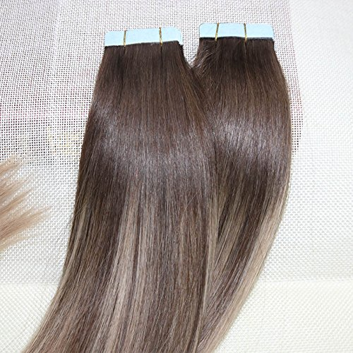 Beautymiss 14 24 50gg 20pcs Balayage Ombre Tape In Hair