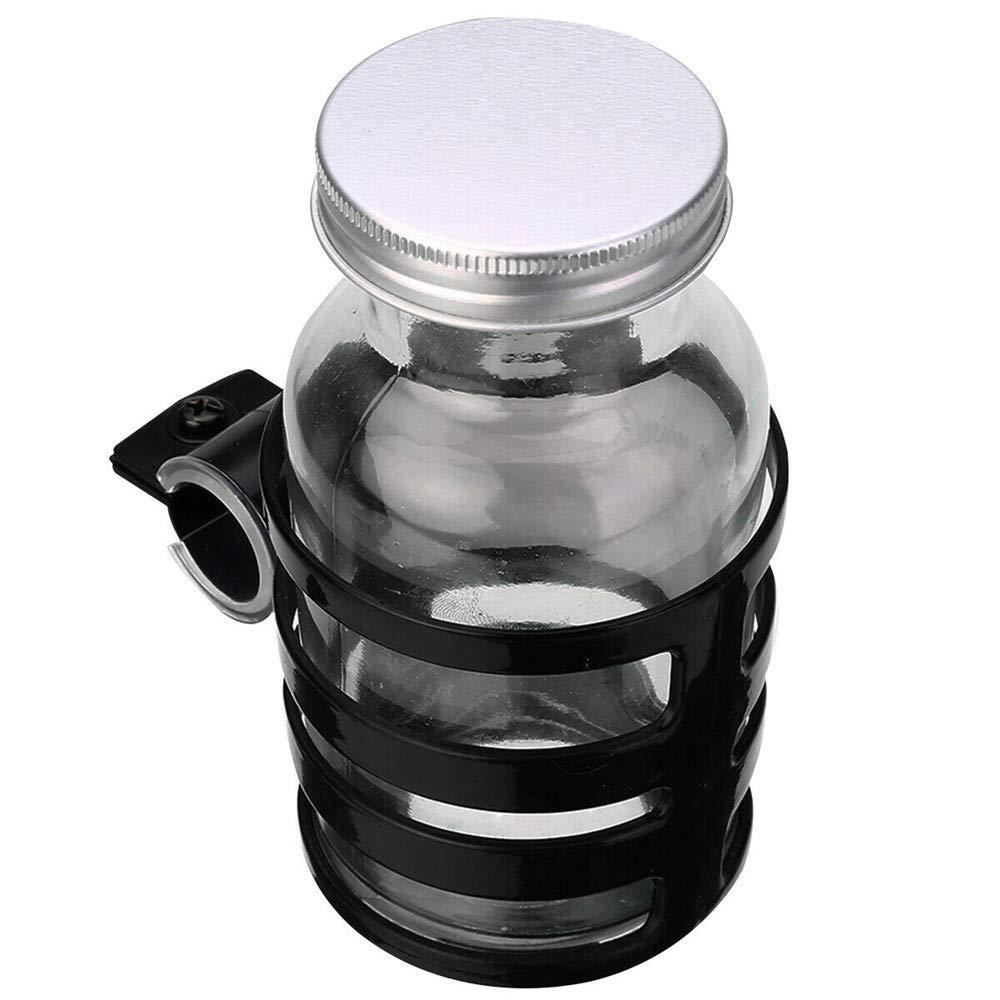 WSERE 2 Pieces Pram Cup Holder Stroller Cup Holder Universal Adjustable Baby Bottle Organizer for Stroller with Pram Hook Suitable for Baby Buggy and Bike Black