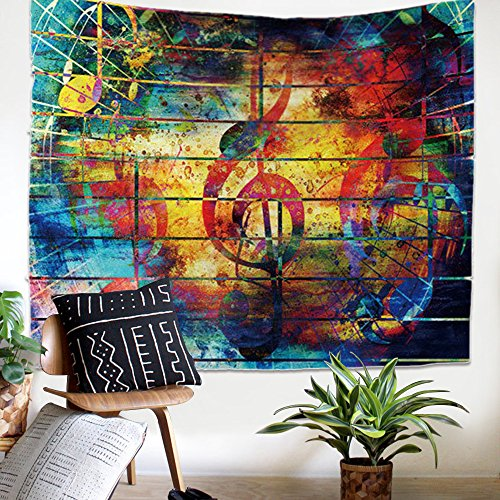 ZHH World Map Tapestry Blue Ocean Indian Wall Hanging Bohemian Tapestries Home
