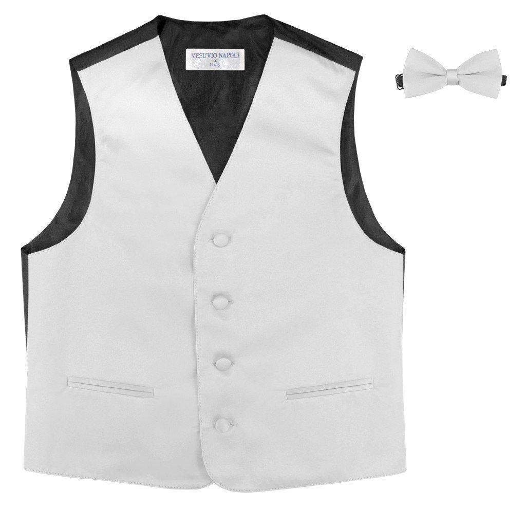 BOYS Dress Vest /& BOW Tie Solid BURGUNDY Color BowTie Set