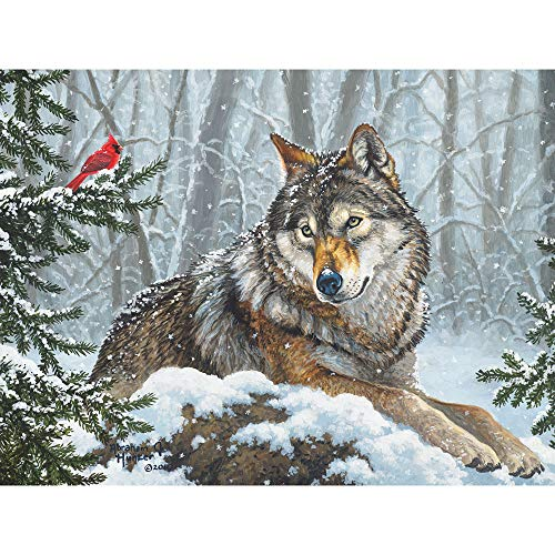 Bits and Pieces - Winter Friends 300 Piece Jigsaw Puzzles for Adults - Each Puzzle Measures 18 X 24 - 300 pc Jigsaws by Artist Abraham Hunter