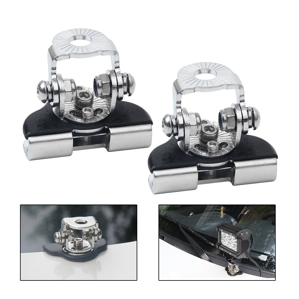 A Pillar Hood Clamp Holder Off-Road Led Work Light Bar Mount Bracket a Pillar Light Mount Universal Stainless Steel 2pcs PADRAM CO. LTD