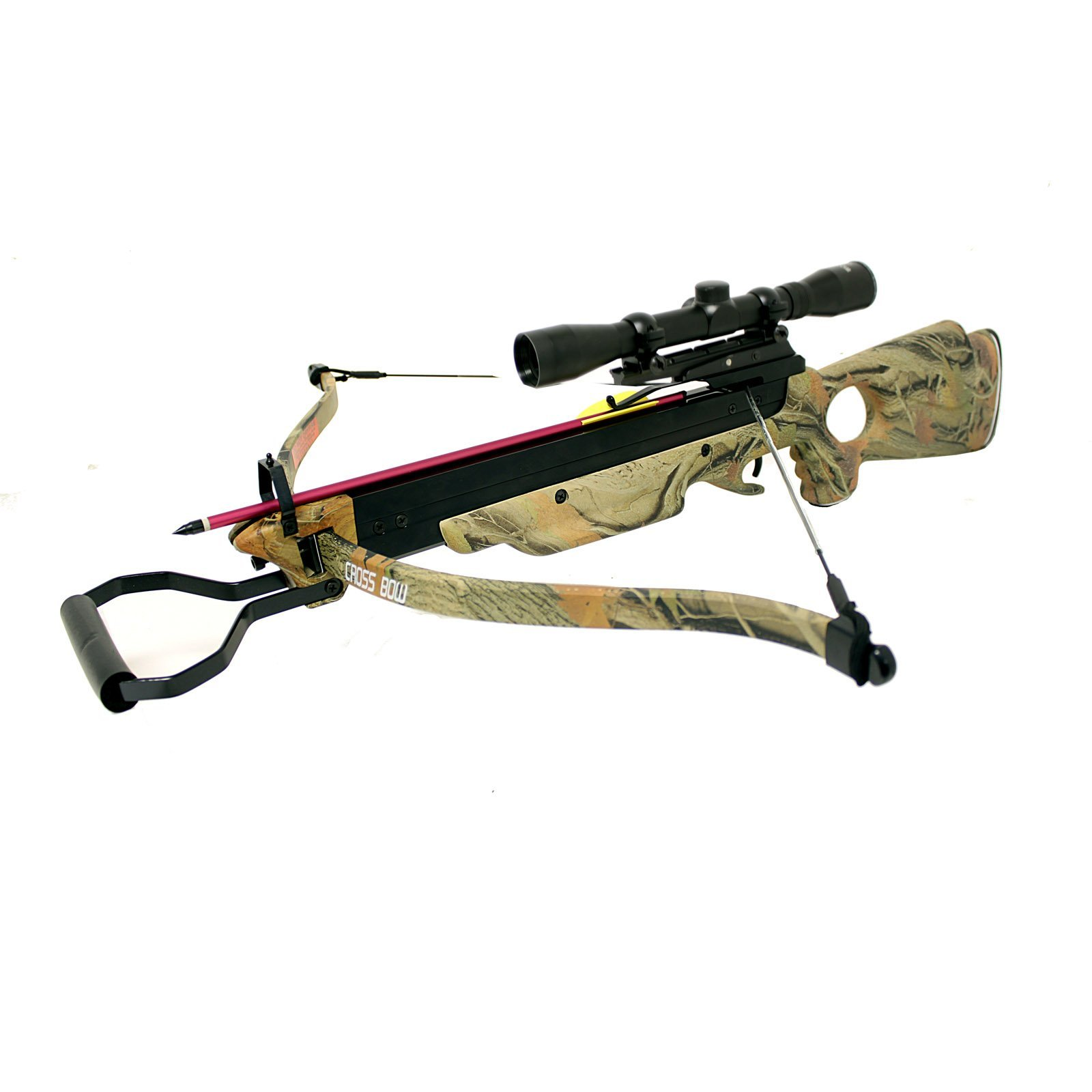 150 Lbs Wizard Camouflage Autumn Green Hunting Crossbow 4x32 Scope Package