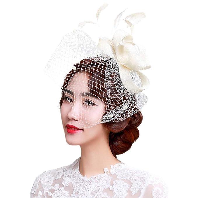 Yuccer Fascinator Cappello per Donna 5b4c2468fdeb