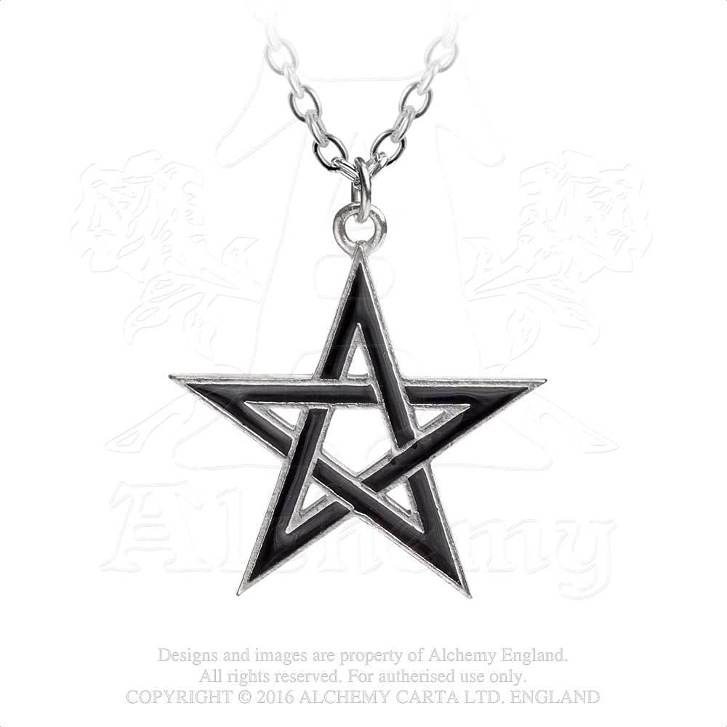 Mens Fashion Necklace Gothic Pentagram Cross Arms Supernatural