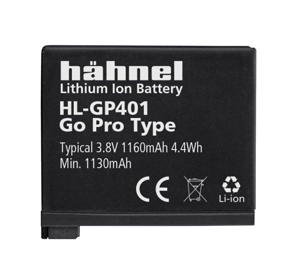 Hahnel HL GP401 Batteria Litio-Ion per GoPro con Capacità 1160 mAh, 3.8V, 1130 Wh, Sostitutiva della Batteria AHDBT-401, Nero/Antracite 1000 166.1 compatibile