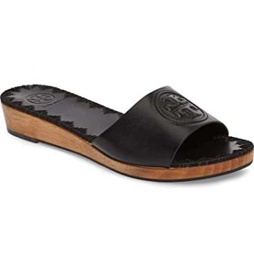 da66771ce998fe Tory Burch Patty Leather Logo Slide Sandals