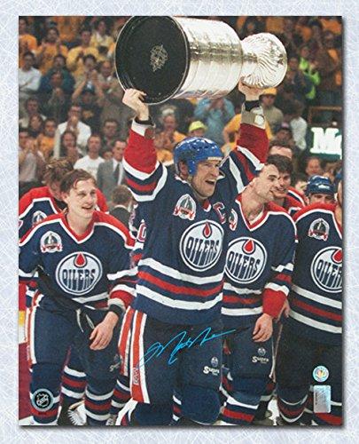 Mark Messier Edmonton Oilers Autographed 1990 Stanley Cup 16x20 Photo