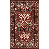 Safavieh Antiquities Collection AT64A Handmade Traditional Red and Multi Area Rug (3' x 5')