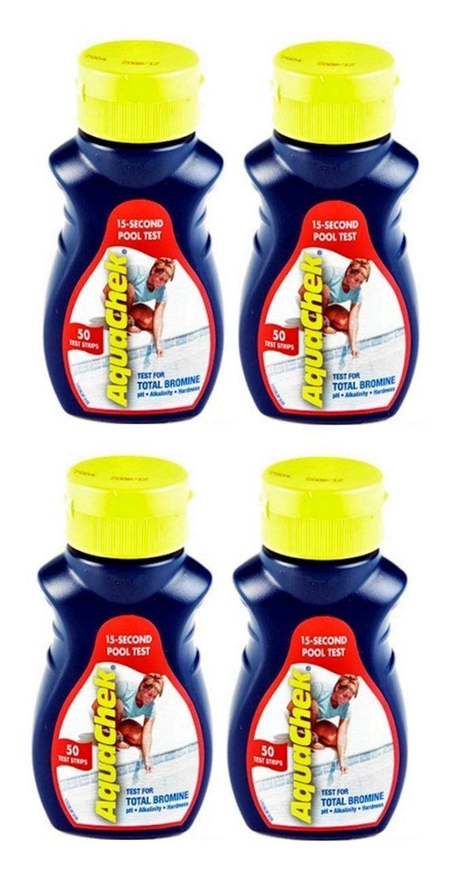 AquaChek Total Bromine Test Strips (50 Count) (4 Pack) by AquaChek