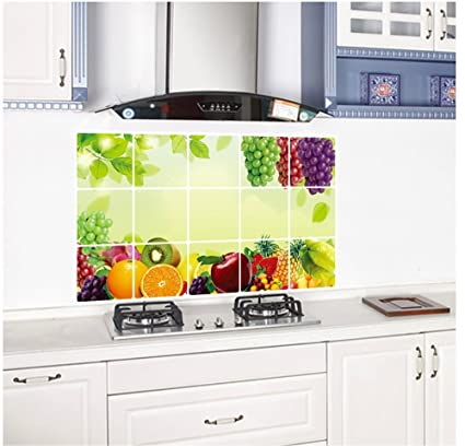 Outstanding Joycentre Removable Kitchen Oil Proof Decal Sticker Heat Resistant Waterproof Tile Sticker Aluminium Foil Decals Dining Room Decor Grape Interior Design Ideas Truasarkarijobsexamcom