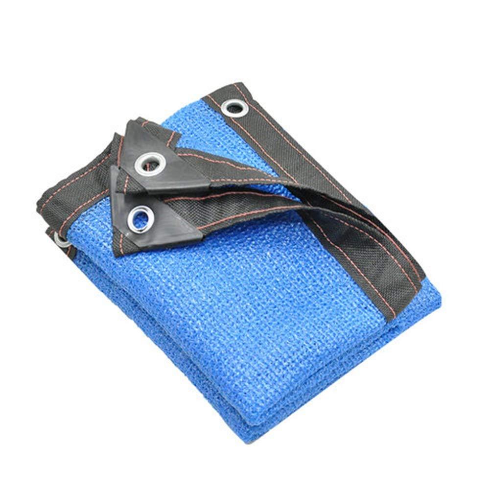 LIANGJUN オーニング シェード遮光ネットシェードネット 耐紫外線 日焼け止め 織り 庭園 芝生 バルコニー 工場 屋外の 、カスタマイズされたサイズ 、23サイズ (色 : 青, サイズ さいず : 4X8m) B07PT9L97T 青 4X8m