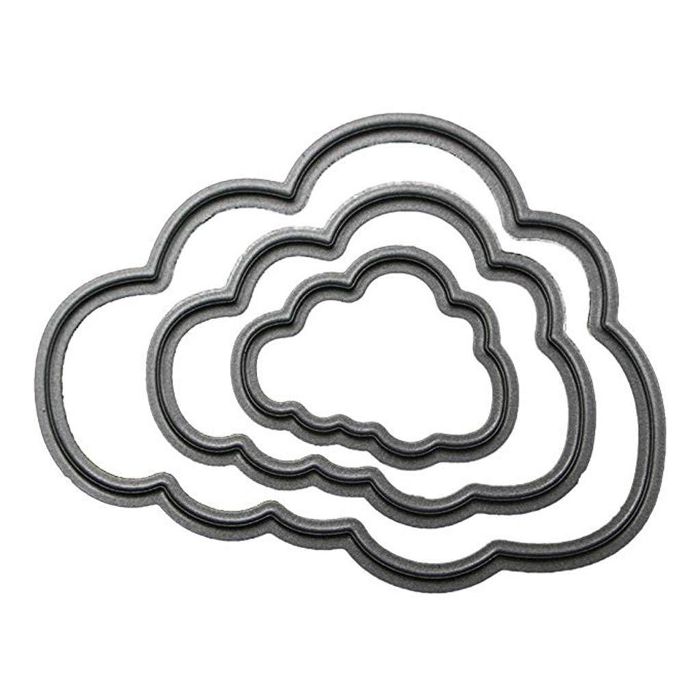 Morza Acciaio al Carbonio Svegli Nuvola Telaio dello Stampino di goffratura Fustelle 3D Scrapbooking Carta Craft Dies