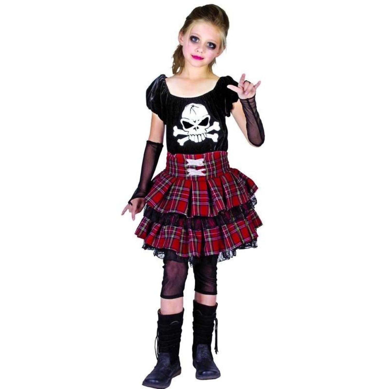 P tit payaso disfraz infantil Luxe Punk niña - , Multicolor ...