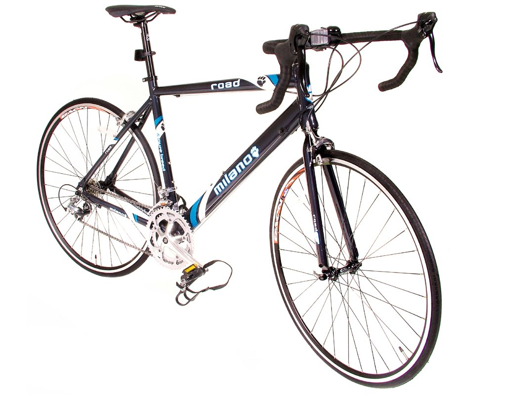Muddyfox Milano Road 700 CC Legierung Rahmen Racing Bike schwarz 21 ...