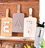 Gift Included- Country Farmhouse Kitchen Cutting Board Wall Display 3Pc EAT Wall Hanging Decor + FREE Bonus Water Bottle by Home Cricket